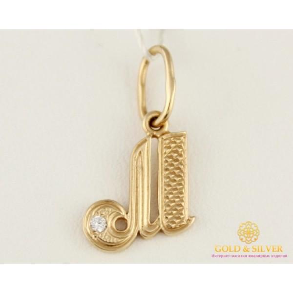 Золотой Кулон 585 проба. Подвес с красного золота, Буква 'М' pv001im , Gold &amp Silver Gold & Silver, Украина