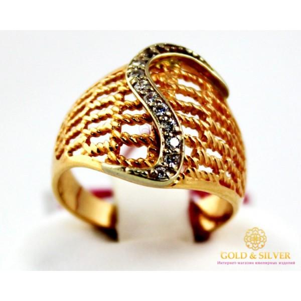 Золотое кольцо 585 проба. Женское широкое Кольцо с красного и белого золота. 4,45 грамма. kv2342 , Gold &amp Silver Gold & Silver, Украина