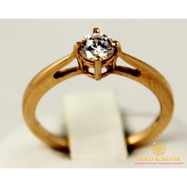 Золотое кольцо 585 проба. Женское Кольцо 320510 , Gold & Silver Gold & Silver, Украина