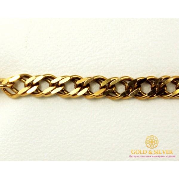 Золотой Браслет 585 проба. Браслет с красного золота, плетение Ромб Двойная унисекс 8397730 , Gold &amp Silver Gold & Silver, Украина