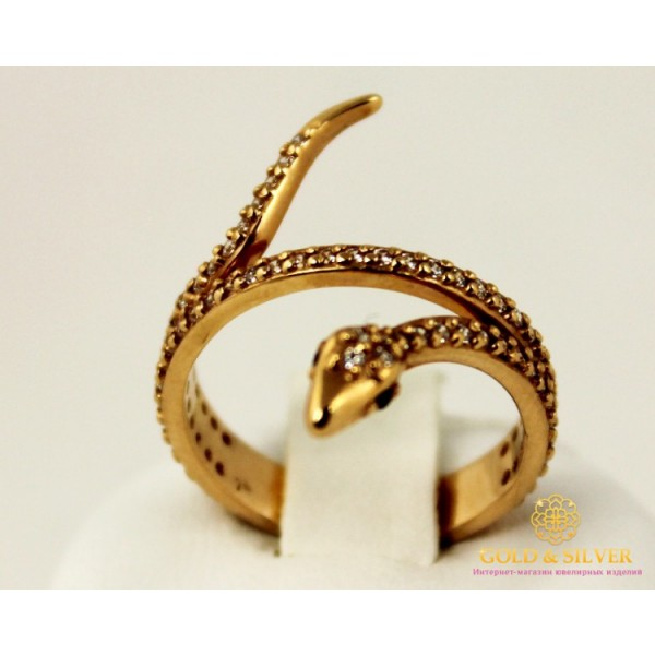 Золотое кольцо 585 проба. Женское Кольцо Змея с красного золота, 3,47 грамма. 320515 , Gold & Silver Gold & Silver, Украина