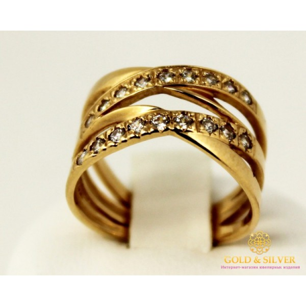 Золотое кольцо 585 проба. Женское Кольцо с красного золота. 3,48 грамма. kv830i , Gold &amp Silver Gold & Silver, Украина