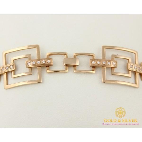 Золотой Браслет 585 проба. Женский браслет с красного золота, Геометрическая Фантазия 61701501 , Gold & Silver Gold & Silver, Украина
