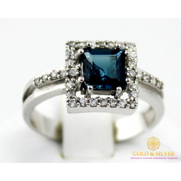 Серебряное Кольцо Шедевр Лондон Топаз 16109p , Gold & Silver Gold & Silver, Украина