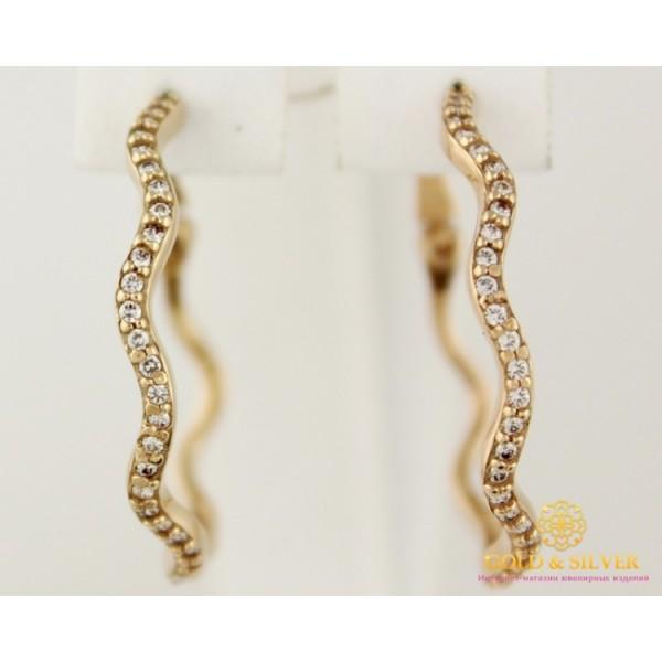 Золотые Серьги 585 проба. Женские серьги с красного золота Конго (кольца). 21014801 , Gold & Silver Gold & Silver, Украина