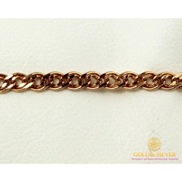 Золотой Браслет 585 проба. Женский браслет с красного золота, плетение Мона Лиза 522024041 18 , Gold &amp Silver Gold & Silver, Украина