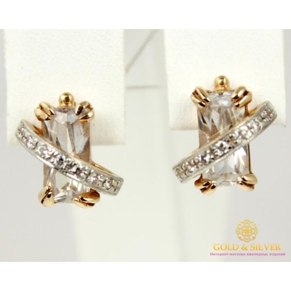 Золотые Серьги 585 проба. Женские серьги с красного золота, Фианит 20350 , Gold &amp Silver Gold & Silver, Украина