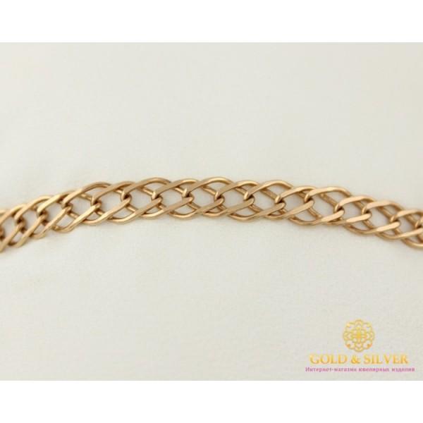Золотой Браслет 585 проба. Браслет с красного золота, плетение Ромб Двойной 523326041 , Gold & Silver Gold & Silver, Украина