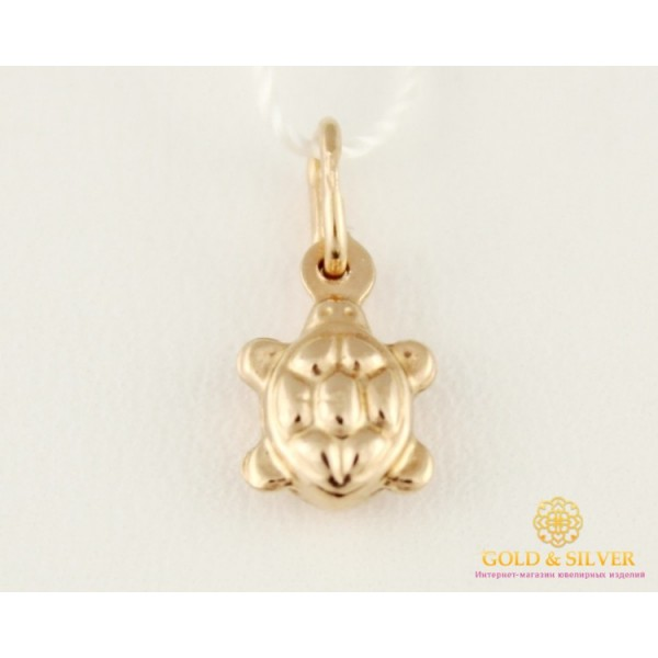 Золотой Подвес Черепашка 50102 , Gold & Silver Gold & Silver, Украина