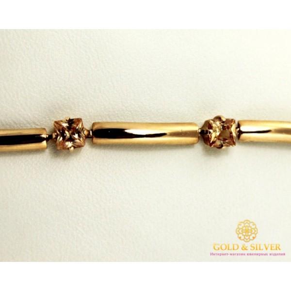 Золотой браслет 585 проба. Женский Браслет с красного золота, Румба Шампань bc005 , Gold &amp Silver Gold & Silver, Украина