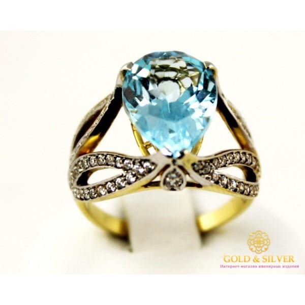 Золотое кольцо 585 проба. Женское Кольцо с красного золота, с вставкой Топаз 11839 , Gold & Silver Gold & Silver, Украина
