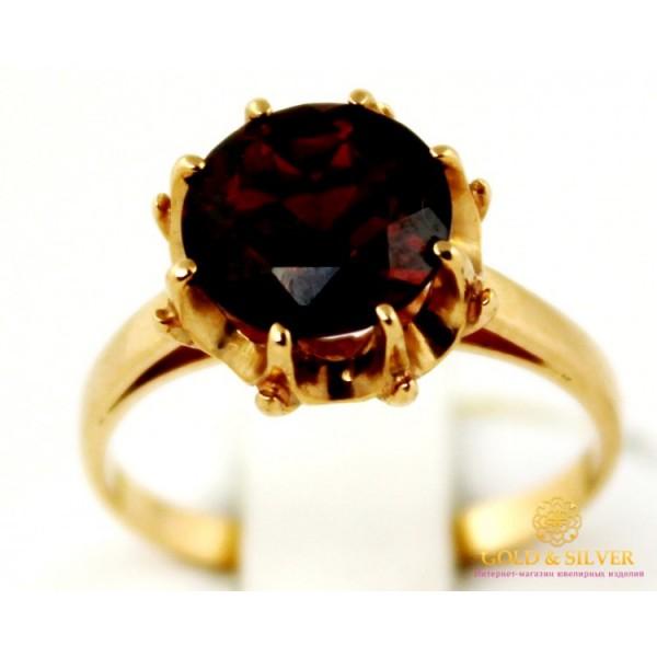Золотое кольцо 585 проба.  Женское Кольцо с красного золота, с вставкой Гранат. 364026 , Gold & Silver Gold & Silver, Украина