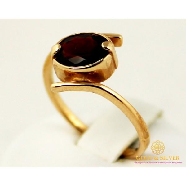Золотое кольцо 585 проба. Женское Кольцо с красного золота с вставкой Гранат. 3,41 грамма. 6924930 , Gold & Silver Gold & Silver, Украина