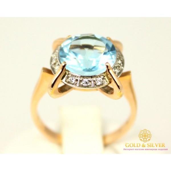 Золотое кольцо 585 проба. Женское Кольцо с красного золота Топаз, 4,41 грамма. 11334 , Gold & Silver Gold & Silver, Украина