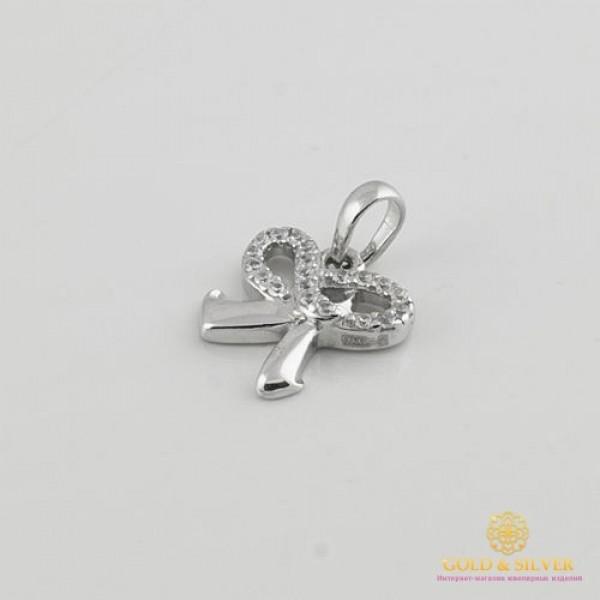 Серебряный кулон 925 проба. Подвес детский бантик. 3935 , Gold & Silver Gold & Silver, Украина