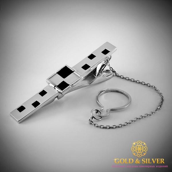 Серебряный зажим для галстука 925 проба. Мужской зажим серебряный. 8347e , Gold &amp Silver Gold & Silver, Украина