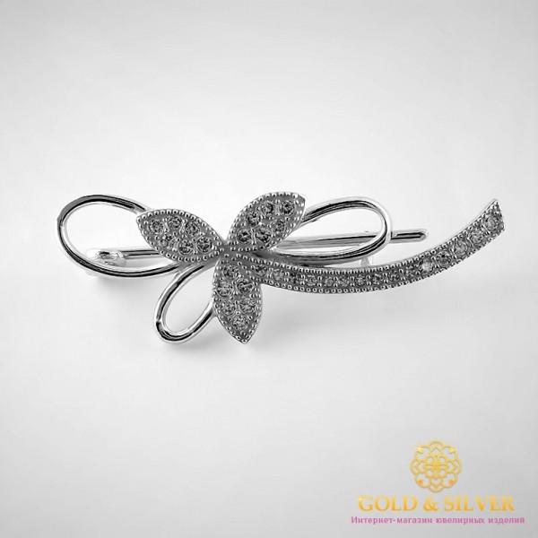 Серебряная Брошь 8044 , Gold & Silver Gold & Silver, Украина