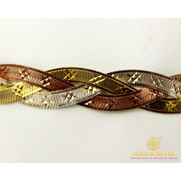 Серебряный Браслет 925 проба. Браслет серебряный плетение Косичка. 19040 , Gold & Silver Gold & Silver, Украина