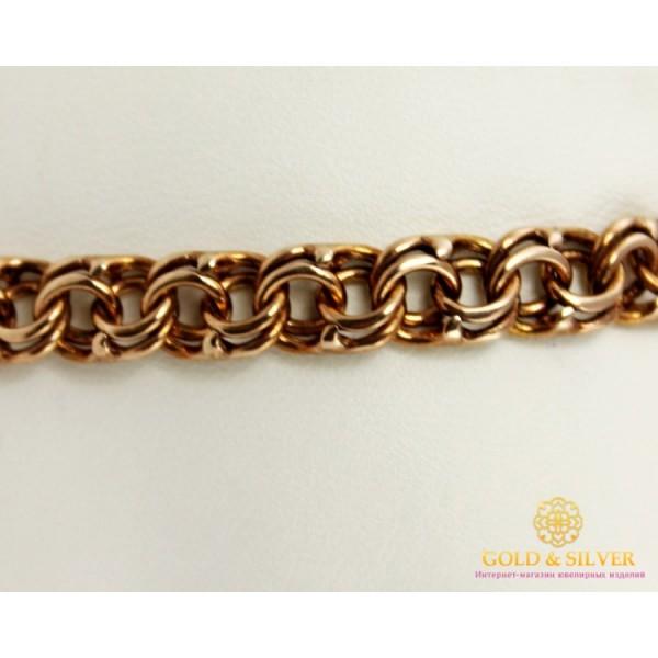 Серебряный браслет 925 проба. Браслет позолоченный, плетение Бисмарк, 078052 , Gold & Silver Gold & Silver, Украина