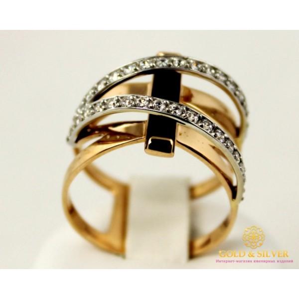 Золотое кольцо 585 проба. Женское Кольцо с красного золота с вставкой Агат, черный цвет. 6,06 грамма. 379602 , Gold & Silver Gold & Silver, Украина
