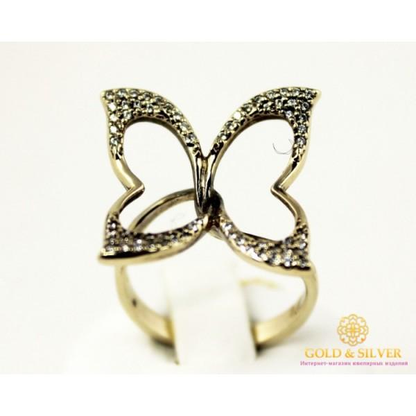 Золотое кольцо 585 проба. Женское Кольцо Бабочка из белого золота. 5,04 грамма. 320450 , Gold & Silver Gold & Silver, Украина
