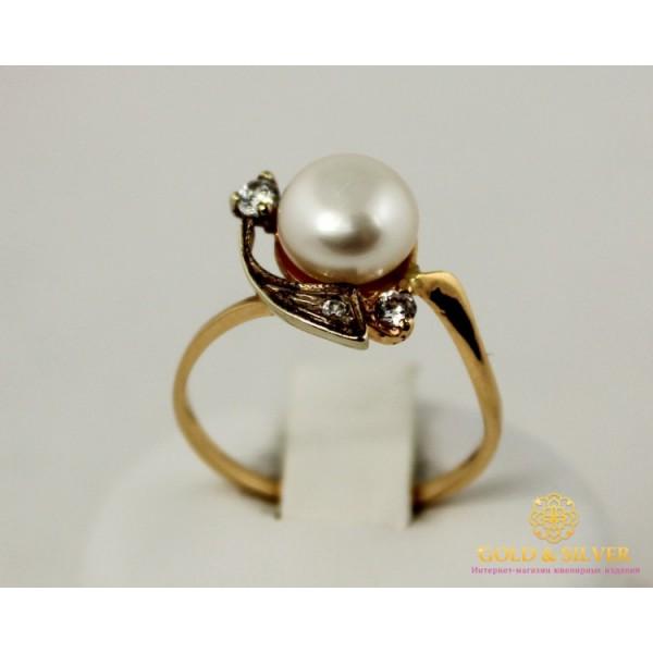 Золотое кольцо 585 проба. Женское Кольцо с красного золота, с вставкой Жемчуг. 2,34 грамма. kv1043 , Gold &amp Silver Gold & Silver, Украина