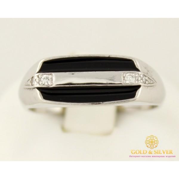 Серебряное кольцо 925 проба. Мужское кольцо с черной эмалью 1549e , Gold & Silver Gold & Silver, Украина