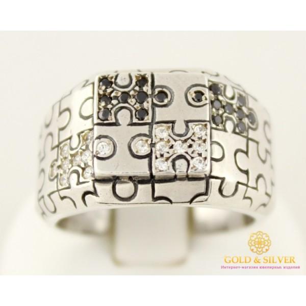 Серебряное кольцо 925 проба. Мужское кольцо Пазл. 10119 , Gold & Silver Gold & Silver, Украина