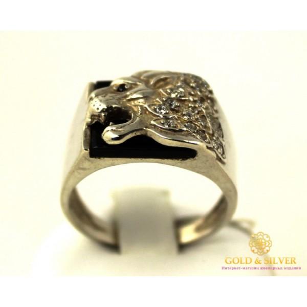 Серебряное кольцо 800 проба. Мужское Кольцо Лев pch009c , Gold &amp Silver Gold & Silver, Украина