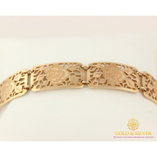 Золотой Браслет 585 проба. Женский золотой браслет Роза bc601i , Gold & Silver Gold & Silver, Украина