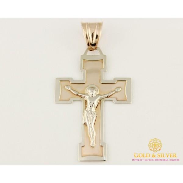 Золотой Крест 585 проба. Крест Красное Белое Золото 210048 , Gold & Silver Gold & Silver, Украина