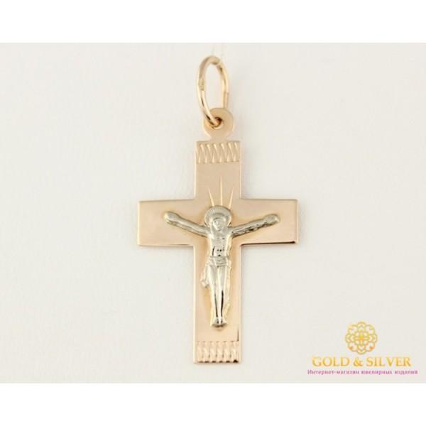 Золотой Крест 585 проба. Крест красное и белое золото. 230104 , Gold & Silver Gold & Silver, Украина