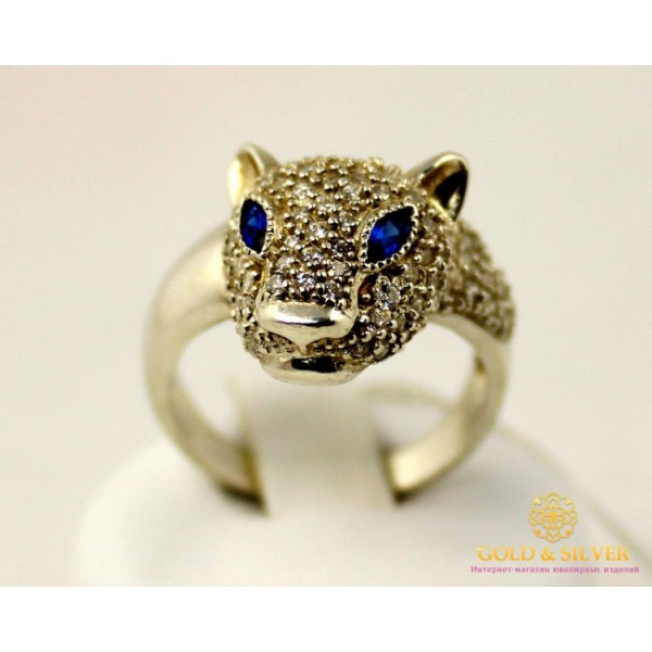 Серебряное кольцо 925 проба. Женское Кольцо Пантера kv993c , Gold & Silver Gold & Silver, Украина