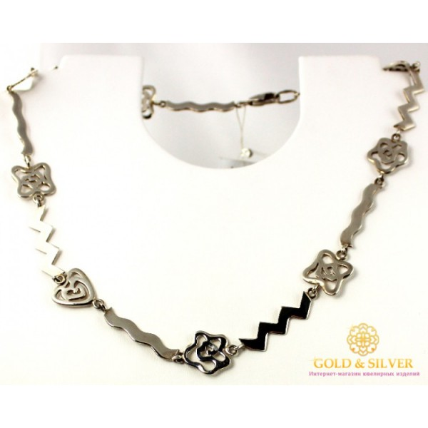 Серебряное Колье Легкое 087104 , Gold &amp Silver Gold & Silver, Украина