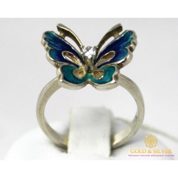 Серебряное кольцо 925 проба. Женское Кольцо Бабочка с эмалью. 1511 , Gold &amp Silver Gold & Silver, Украина