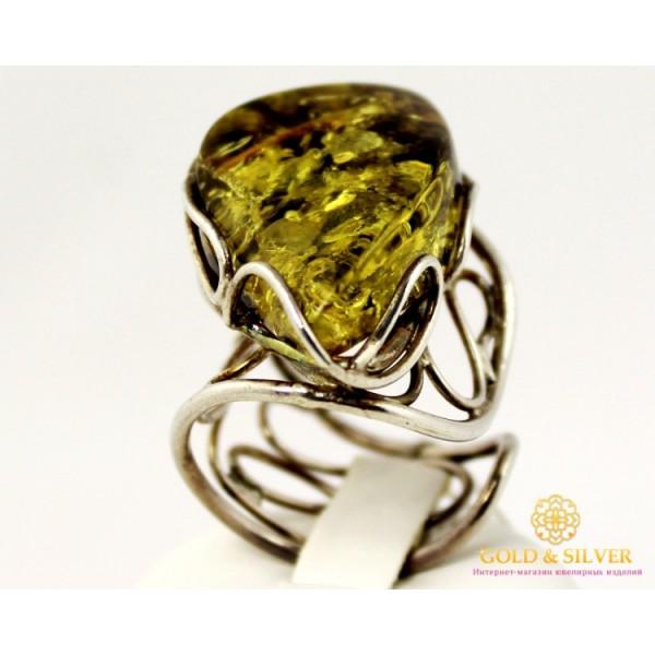 Серебряное кольцо 925 проба. Женское Кольцо Янтарь ya1222112 , Gold & Silver Gold & Silver, Украина