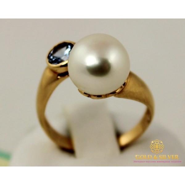 Золотое кольцо 585 проба. Женское Кольцо с красного золота, с вставкой Жемчуг 4,39 грамма. kv4393 , Gold & Silver Gold & Silver, Украина