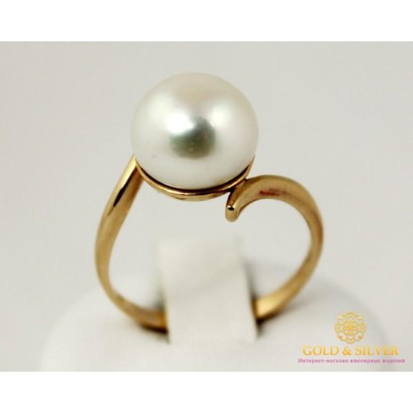 Золотое кольцо 585 проба. Женское Кольцо с красного золота, с вставкой Жемчуг 4,01 грамма. kv059i , Gold & Silver Gold & Silver, Украина
