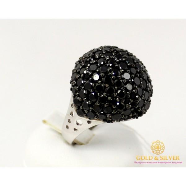 Серебряное кольцо 925 проба. Женское Кольцо Самоцветы с вставкой черных камней. 14979p1 , Gold &amp Silver Gold & Silver, Украина