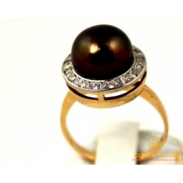 Золотое кольцо 585 проба. Женское Кольцо Черный Жемчуг с красного золота. kv33503 , Gold &amp Silver Gold & Silver, Украина