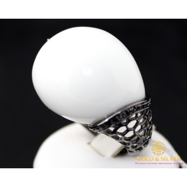 Серебряное кольцо 925 проба. Женское Кольцо Белый Агат 155982 , Gold & Silver Gold & Silver, Украина
