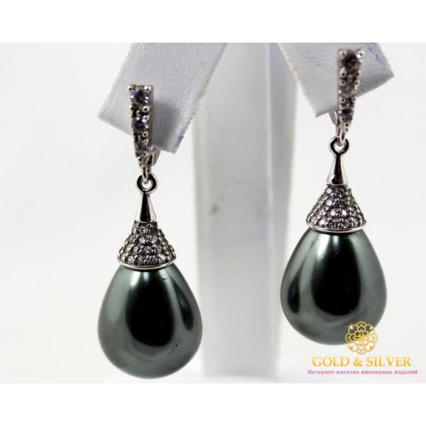 Серебряные Серьги 925 проба. Женские серьги капля. 289612 , Gold & Silver Gold & Silver, Украина