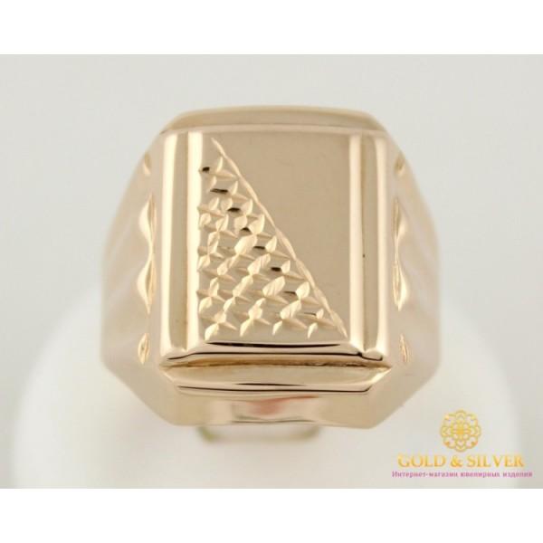 Золотое кольцо 585 проба. Кольцо мужское с красного золота, без камней. 390039 , Gold & Silver Gold & Silver, Украина