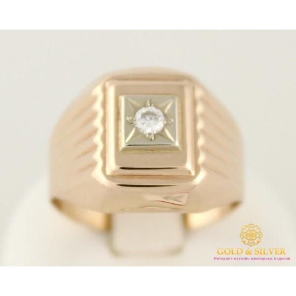Золотое кольцо 585 проба. Мужской перстень с красного золота. 2,82 грамма. 390066 , Gold & Silver Gold & Silver, Украина