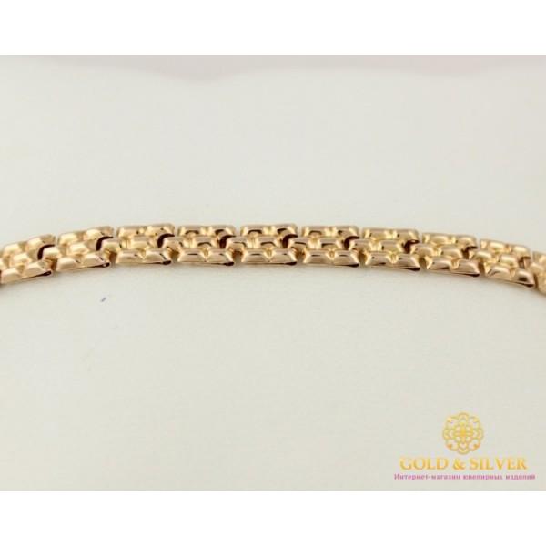 Золотой Браслет 585 проба. Браслет с красного золота, дутый Унисекс 810043 , Gold &amp Silver Gold & Silver, Украина