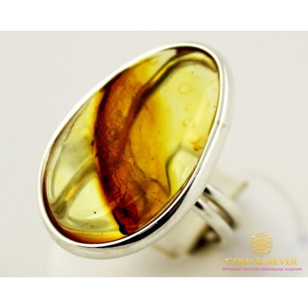Серебряное кольцо 925 проба. Женское Кольцо Янтарь 002k , Gold & Silver Gold & Silver, Украина