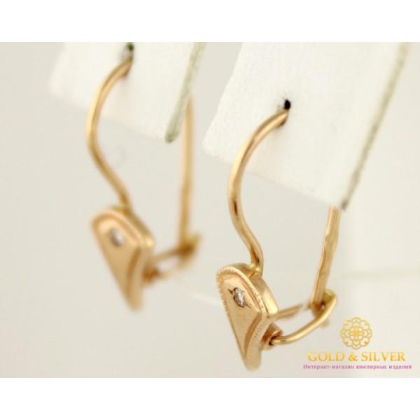 Золотые Серьги 585 проба. Женские серьги с красного золота. 1,24 грамма 470709 , Gold &amp Silver Gold & Silver, Украина
