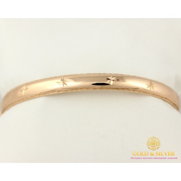 Золотой Браслет 585 проба. Женский браслет с красного золота, Жесткий универсальный 820047 , Gold & Silver Gold & Silver, Украина