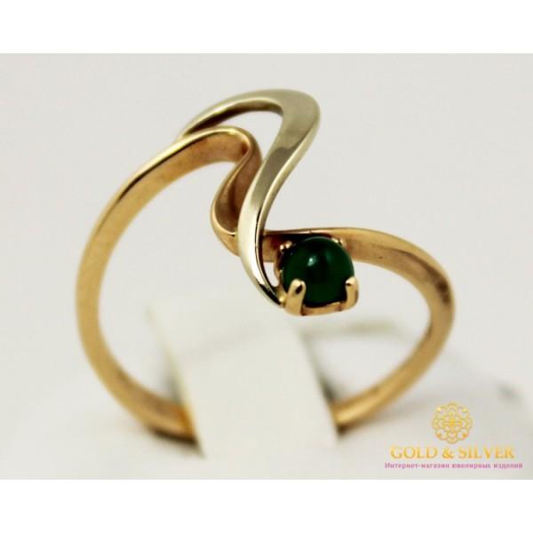 Золотое кольцо 585 проба. Женское Кольцо с натуральным хризопразом 2,2 грамма. 6920720 , Gold & Silver Gold & Silver, Украина