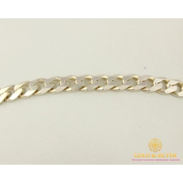 Серебряный Браслет 925 проба. Браслет плетение Панцирь 01150 , Gold &amp Silver Gold & Silver, Украина